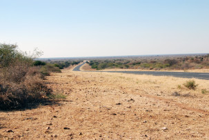 Auf dem Kalahari-Highway