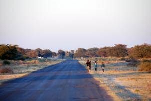 Auf dem Weg ins Okavangodelta