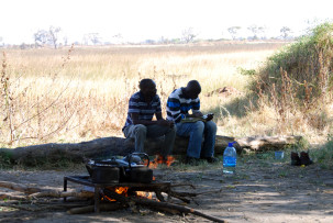 Unser Camp im Okavangodelta