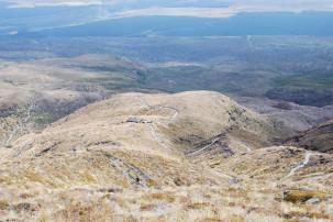 Blick auf Ketetahi Hut