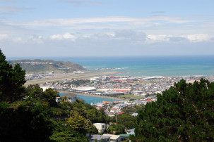 Mount Victoria - Blick auf den Airport Wellington