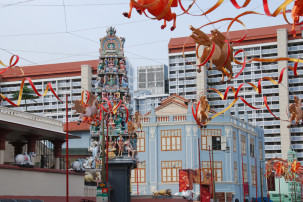 Si Mariamman Temple in Singapur