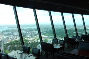 360° Orbit Restaurant im Sky Tower in Auckland