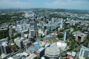Aussicht vom Sky Tower auf Auckland