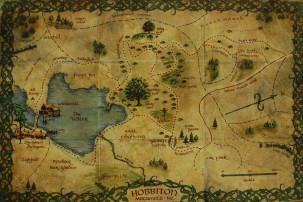 Übersichtskarte Hobbiton