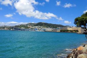 Wellington Harbour mit Blick auf das Te Papa Museum
