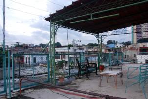 Dachterrasse in Santiago de Cuba