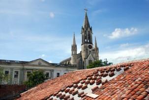 Blick von der Dachterrasse unserer Casa in Camagüey