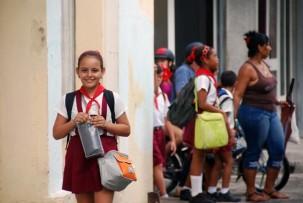 Grundschülerin in Camagüey
