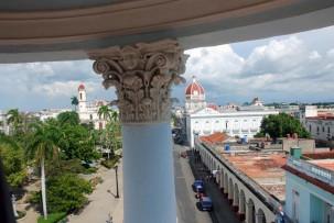 auf dem Türmchen des Palacio Ferrer